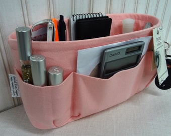 Peaches & Cream / Purse ORGANIZER Insert SHAPER / STURDY / 5 Sizes Available / Check out my shop for more colors and styles