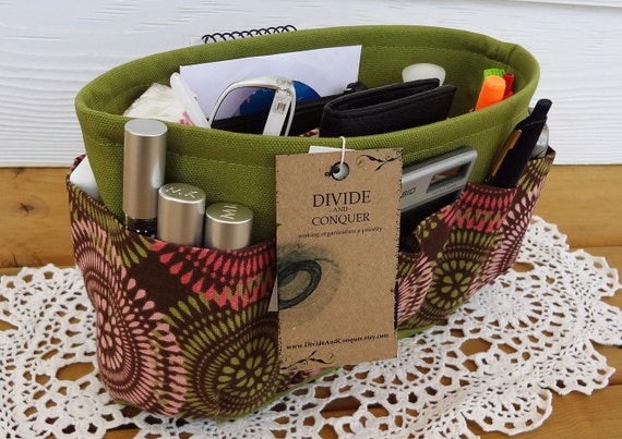 Purse insert ORGANIZER SHAPER / Enclosed Bottom / Fanfare / Extra STURDY / 5 Sizes Available / Check out my shop for more variety