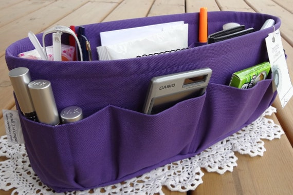 Purple / Purse ORGANIZER insert SHAPER / STURDY / 5 Sizes Available / Purse insert / Check out my shop for more colors & styles