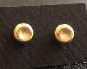 Gold Stud Earring, Pebble Post earring 4mm, simple gold earring, gold post earring, original pebble post earrings