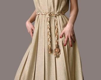 Vintage 50s golden dress