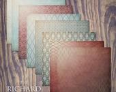 "Richard Digital Scrapbook Paper Pack (12x12""-300 dpi) - 8 Digital papers"
