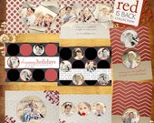 Holdiay 2011 Templates - Mini Set - 8 Photoshop PSD Files - Red is Back