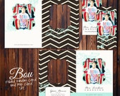 Graduation Announcement - PSD Template Set - 5x7 Folded Window Card and Rep Card - Bou