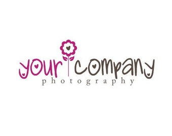 Photography Logo & Watermark - Pre-made for Photographer - Cute FLower