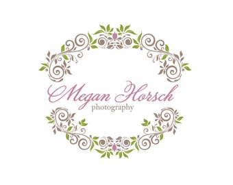 Photography Logo & Watermark - Pre-made for Photographer - Floral Frame
