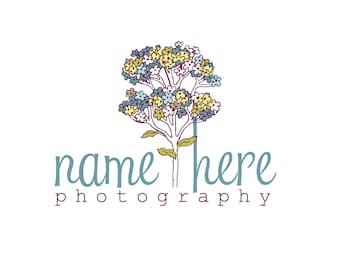 Photography Logo & Watermark - Pre-made for Photographer - Flower Tree