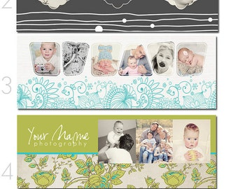 Facebook Profile Timeline Covers - Set 2 - INSTANT DOWNLOAD!