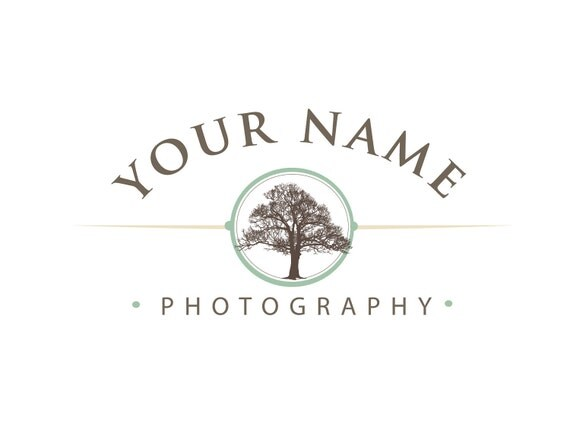 Photography Logo & Watermark - Pre-made for Photographer - Tree in Circle