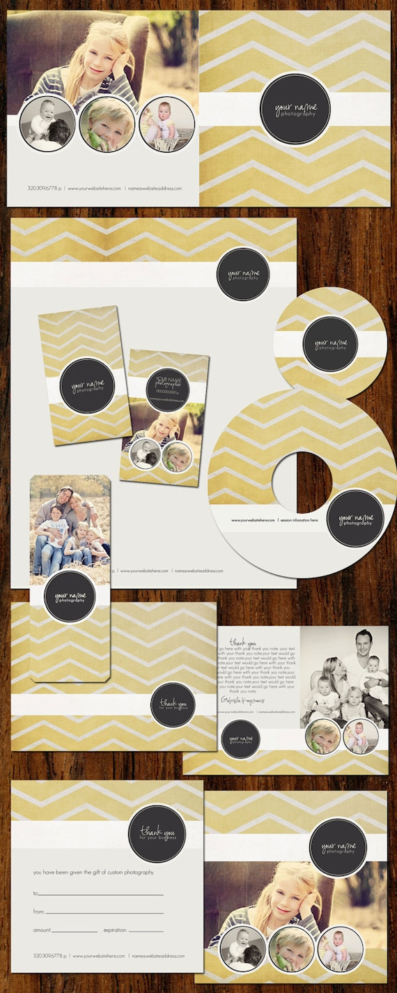 Boutique Marketing Package - Yellow Zig Zag- Photography