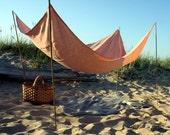 Beach Blanket- Pure Linen Flax Fabric- Beach Life Survival Kit