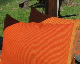 Pillow (Cushion)- handwoven Juicy Orange