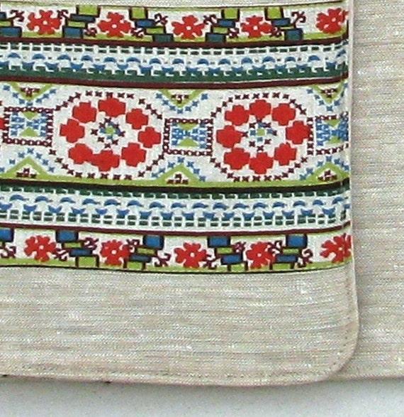 Linen Laptop sleeve- Ornaments Nationales Num 2- 15 inches Macbook