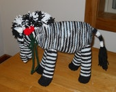 Zebra pony knitted