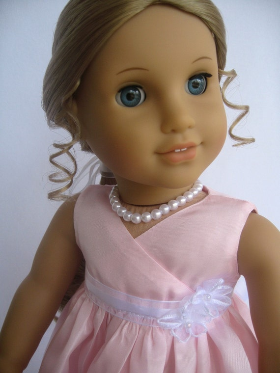 American Girl Doll Clothes Pink Taffeta Dress