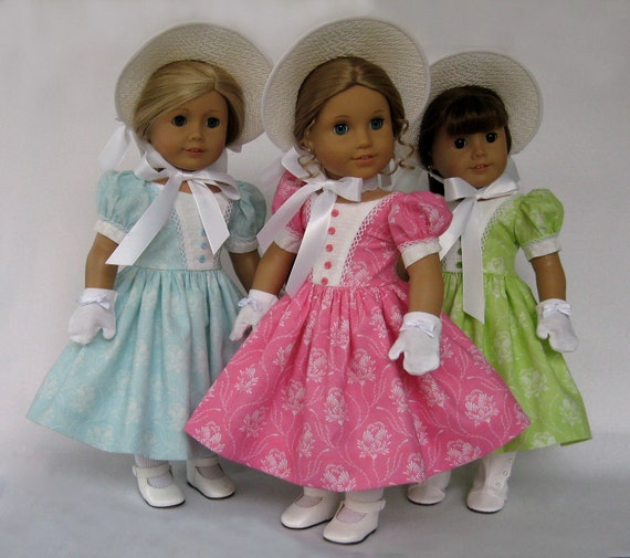 RESERVED Easter Dresses, Bonnets, and Gloves