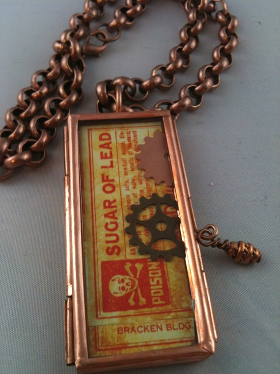 Toxic Poison Steampunk Copper Necklace ON SALE