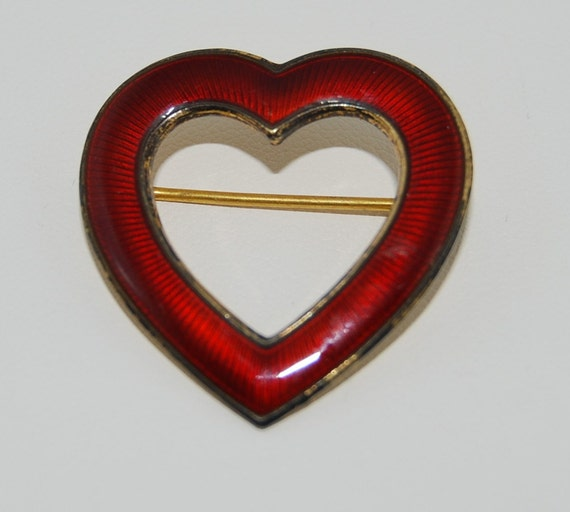 on hold for liz Heart pin sterling silver