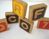 Wooden Letter and Number Block Tiles by WaveSong