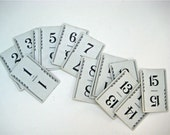 Number Cards - Table Numbers 15 Blue coloured backs