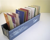 Business Card Holder Upcycled - Vintage Slide Storage Tray