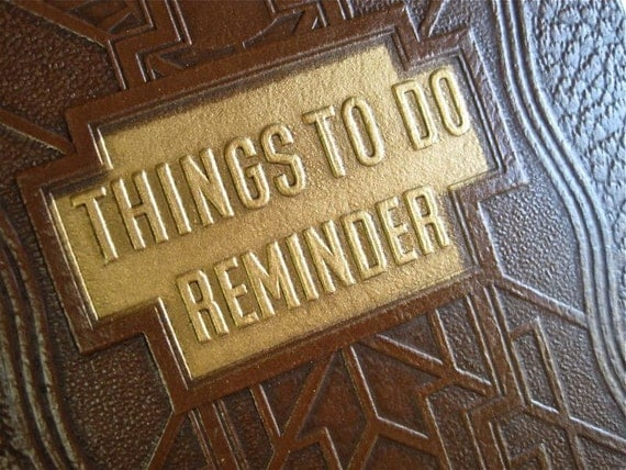 Things to Do, Reminder List Wooden Note Pad by WaveSong