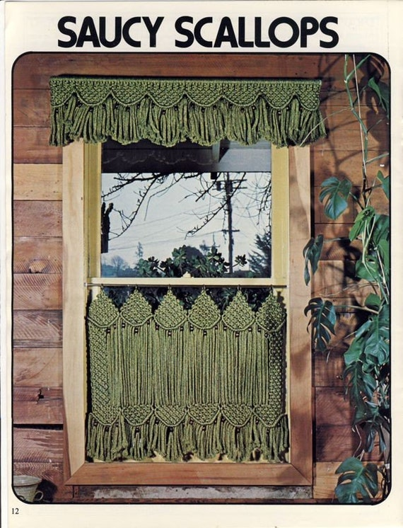 Macrame Window Dressings Pattern Book Cafe Curtains Drapes