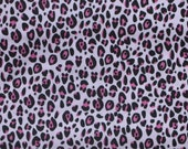 Custom listing for jeanamichelle Pink leopard Print 100 percent cotton fabric 6.66 yards total
