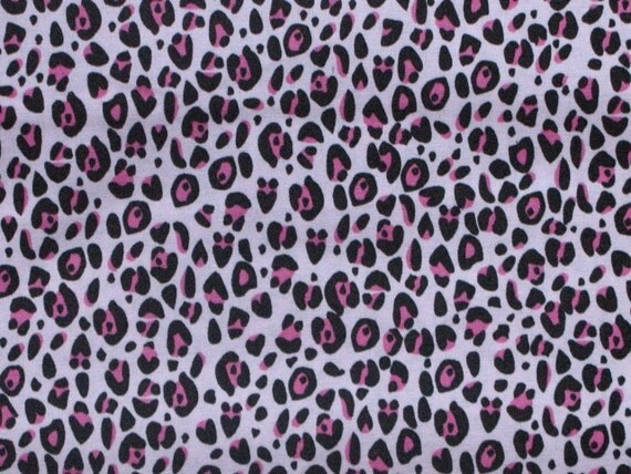 Pink leopard Print 100 percent cotton fabric 1 Yard