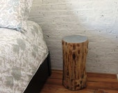 Pine Tree Stump Side Table
