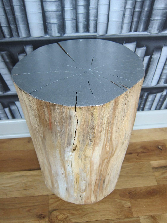 Tree stump side table -  Silver Tree Stump Side Table Zoom