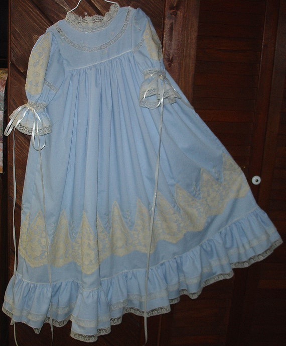 New Heirloom party dress periwinkle/ecru Pageant Holiday Portrait Size 6 SALE