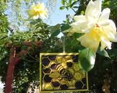 Handmade Bee Linocut Ornament