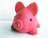 Hot Pink Pig Stuffed Animal