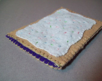 Blueberry felt poptart kindle and e-reader cover -  XL slim