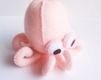 Pink baby octopus