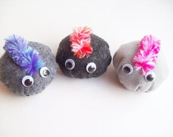 Pet Rock with mohawk- Large (You choose 1)