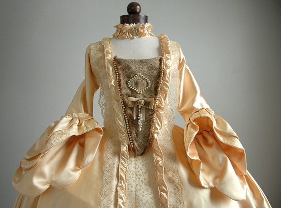 The Countess - Yellow Robe a la Francaise, Marie Antoinette Sack Back Gown