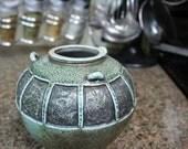 Carved Salt-fired Jar with Squares