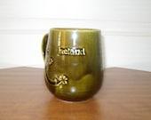 Vintage Green Mug Shamrock St. Patrick's Day