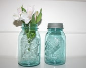 Vintage Aqua Ball Jars Perfect Mason w/ Lid (1910-1923)