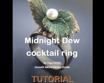 Midnight Dew - cocktail ring - TUTORIAL
