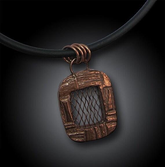 Copper Screen Pendant