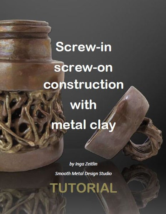 Metal Clay: Screw-in screw-on tutorial - LOCKET