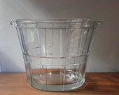 Vintage Anchor Hocking Glass  Bucket