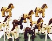 Herd of Horses Chocolate Lollipop Set of 12