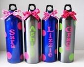 Custom Listing... Set of 4 Personalized Aluminum Water Bottle