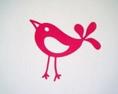 100% of Proceeds Donated to Animal Rescue... Whimsical Bird ... Car Decal, Computer Decal, Wall Decal, etc
