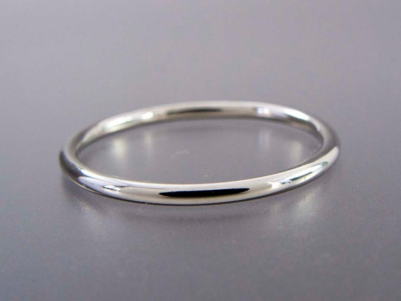 Thin platinum wedding band 13mm wide stacking ring choice junglespirit Images