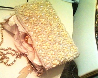 Italian Heavy Beaded Bag- c 1950s Gorgeous
